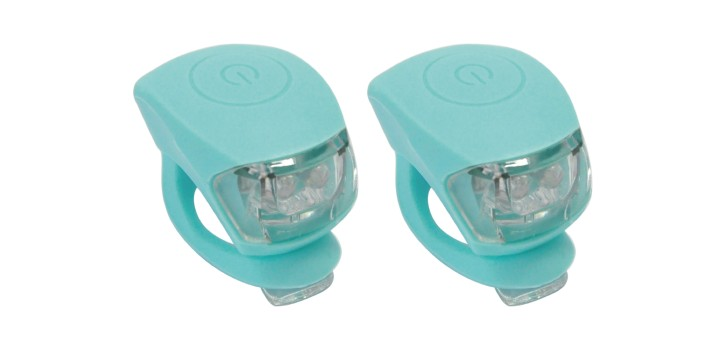 Eclairage LED (1 feu rouge + 1 blanc) 2 positions (fixe ou clignotante), silicone