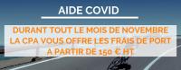 La CPA reste ouverte et offre les frais de port à partir de 150€ HT