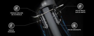 Patins de freins Darkpads : un freinage optimal par tous les temps