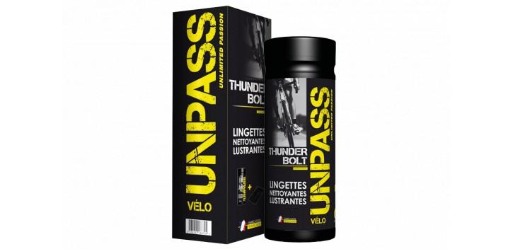 UNPASS Thunderbolt Boite de 35 lingettes + Microfibre (en Etui + Fourreau)