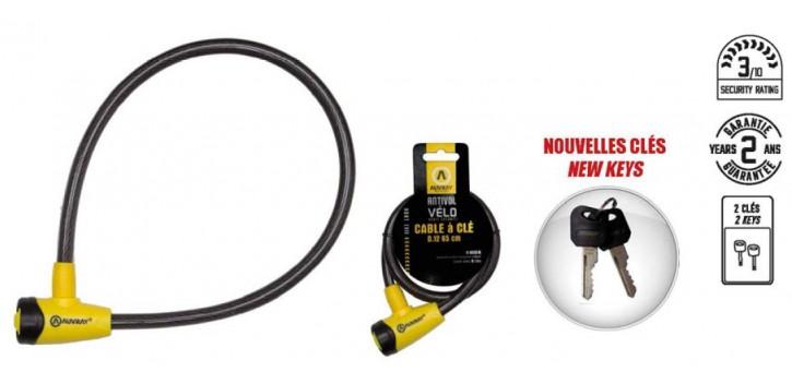 Auvray antivol câble à clé 65cm - Ø12