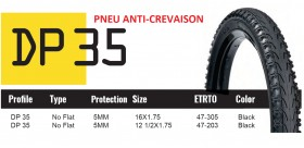 DUTCH PERFECT PNEU SRI 35 - ANTICREVAISON 5mm