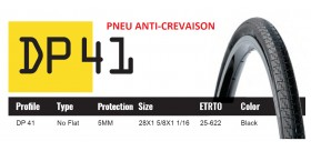 DUTCH PERFECT PNEU 700X25C SRI 41 - ANTICREVAISON 5MM