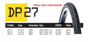 DUTCH PERFECT PNEU 700X35 SRI27 NO FLAT TYRE D.PERFECT NOIR REFLEX