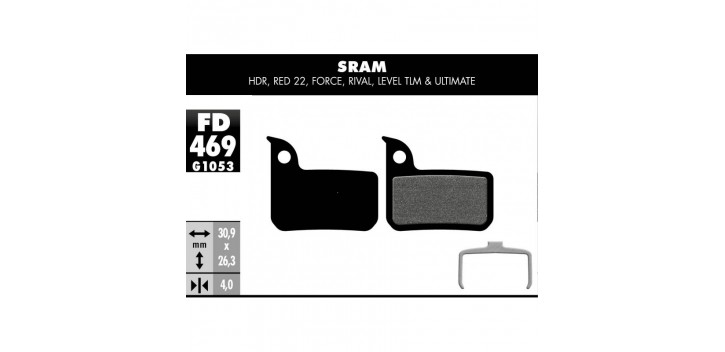 PLAQUETTES DE FREIN SRAM RED 22 / FORCE / RIVAL /LEVEL ULTIMATE &TLM / HDR