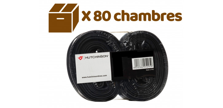 HUTCHINSON CARTON DE 40 LOTS DE 2 CHAMBRES 26X1.70/2.35 SCHRADER