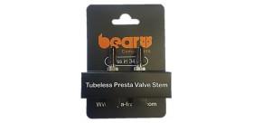 Bear - Valve tubeless - Pied de valve rectangulaire - 34 mm sachet de 2 Valves - Acier